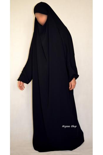 Jilbab Al Bassira Noir Intense