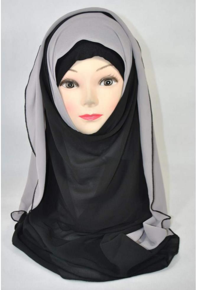 13e3e9d5888f hijab bicolore malaisien hijab moderne malaisien hijab en mousseline
