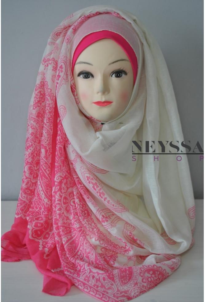 Maxi châle Yanissa rose