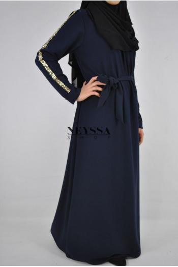 Robe Abaya strass sequins