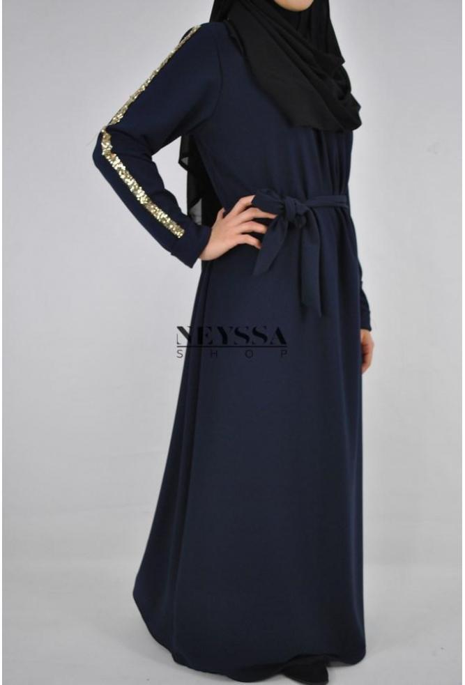 Robe Abaya strass sequins