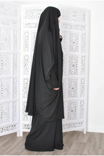 Jilbab Sarwel Marwa Manchettes Cuir