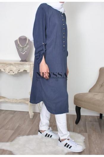 Tunique longue musulmane liquette Jumana