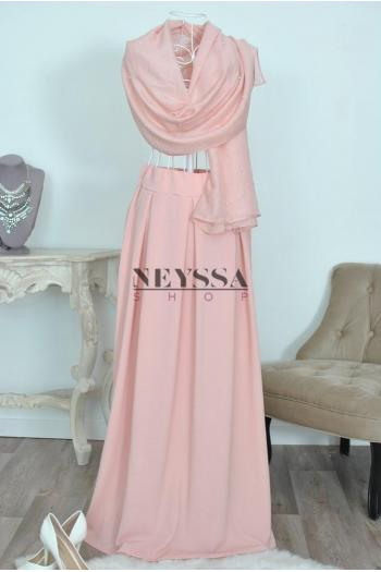 jupe taille haute modest fashion islamique jupe large musulmane