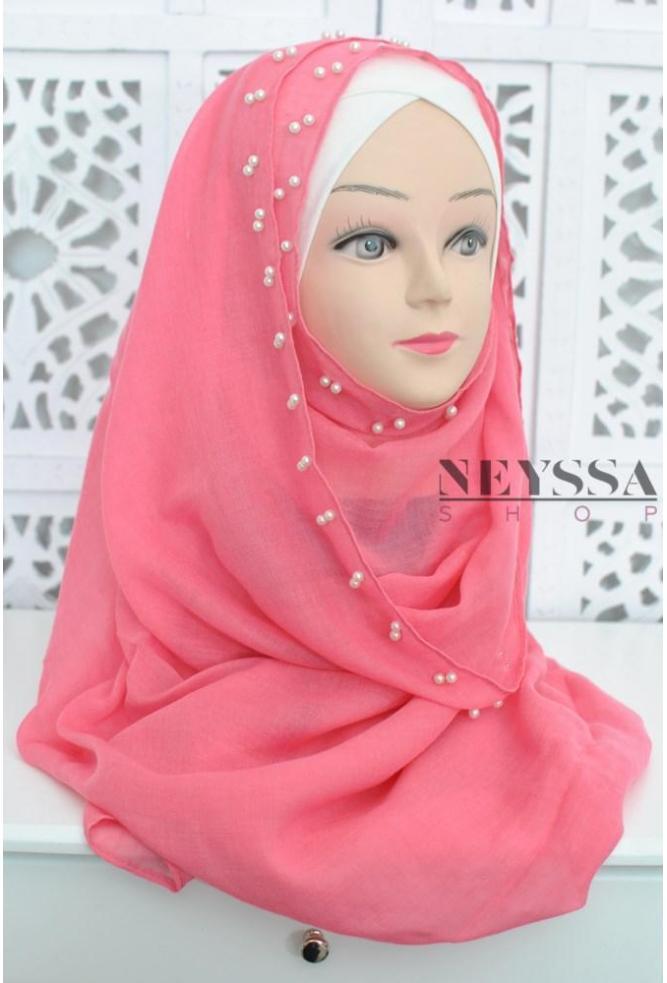 hijab perle nacre hijab pas cher