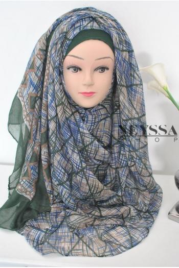 maxi hijab pas cher imprimé
