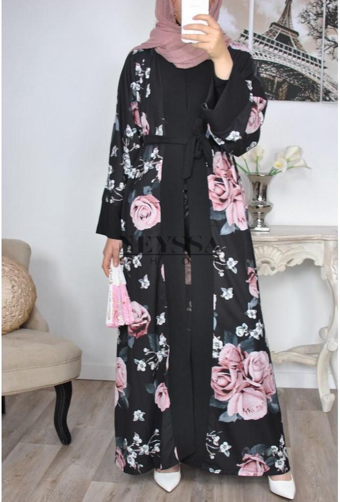 85f42be1fc22 kimono long fleuri le top niveau mode hijab kimono oriental
