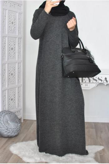 Robe longue Col roulé femme musulmane