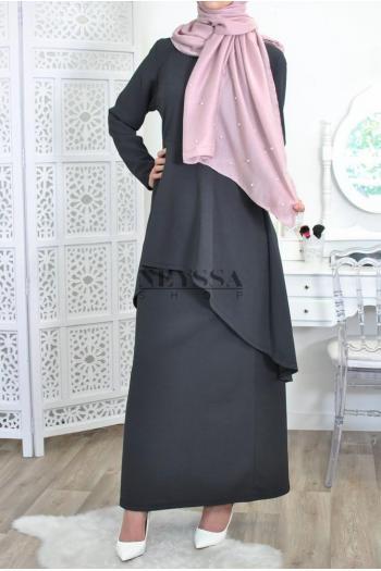 hijab châle xxl perles