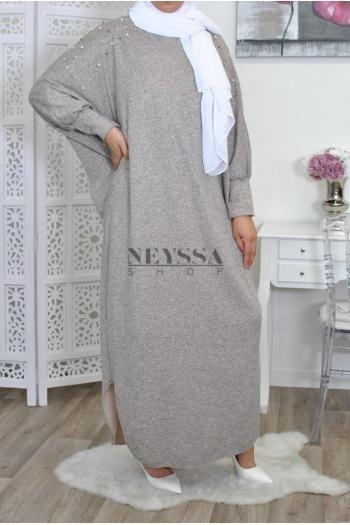 Abaya papillon Tunique Perlée
