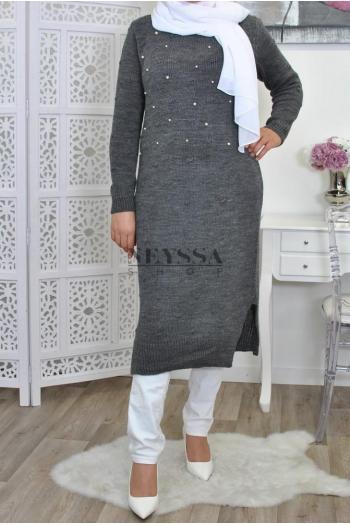 Tunique Pull Perles Fassilya