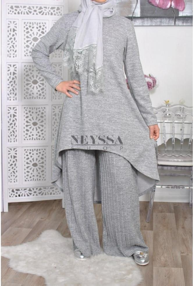 Ensemble Najah Winter Neyssa Boutique Liana Dress Muslim Beige