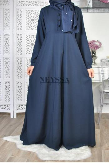 Robe longue evasee hijab