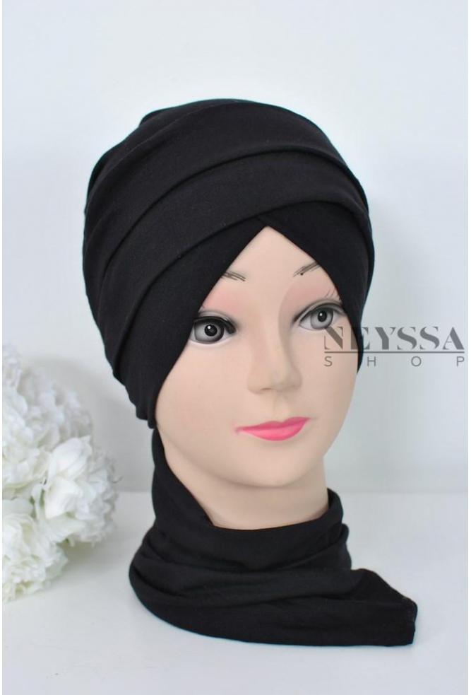 nouveau style d776d 4359c turban croisé couvrir les cheveux, turban sous hijab, turban style