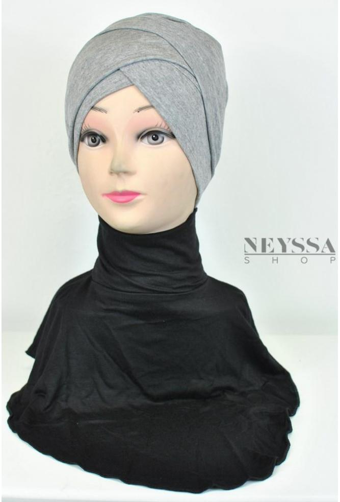 perfect false collar to cover the neck of the Muslim woman