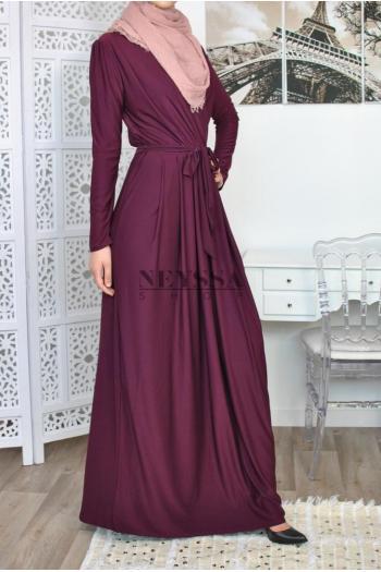Robe Croisée Ismahane 1m62/65 robe musulmane chic