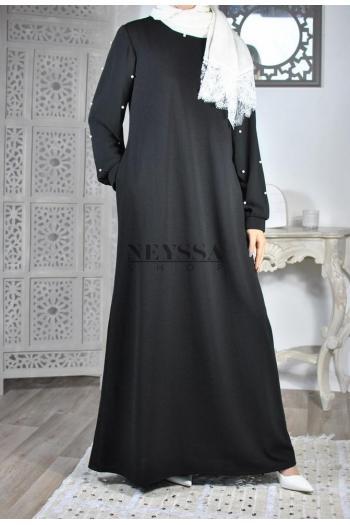 Abaya perlée Amaly