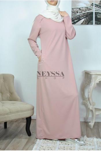 Abaya perlée Kenza