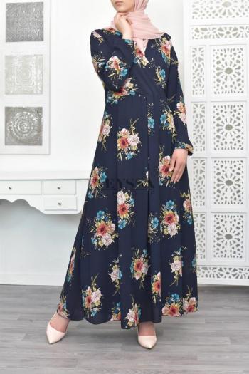 robe longue de la femme musulmane robe arabe nomm e abaya ou dj laba neyssa boutique. Black Bedroom Furniture Sets. Home Design Ideas
