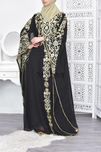 Abaya de soirée Sultana Noir/doré