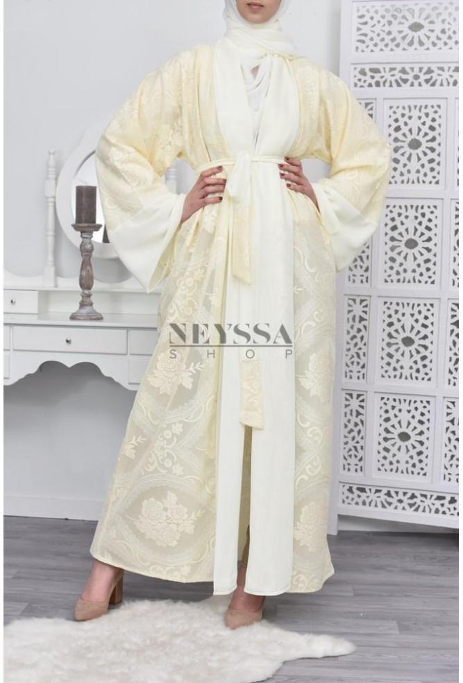 Kimono Dubai Sweet Jaune Pâle