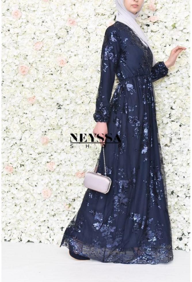 Evening dress Nesslima blue