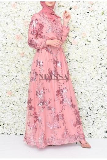 Evening dress Nesslima pink