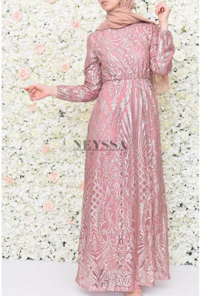 463ca68a73f robe paillettes soiree pour vos festivités musulmane robe pour l aid