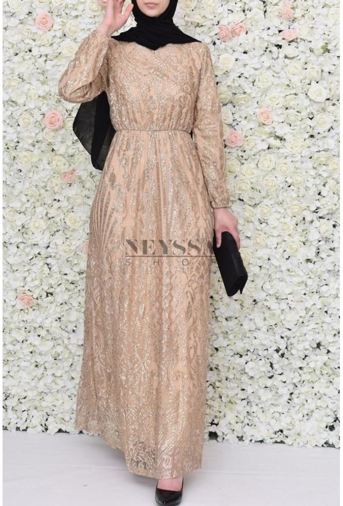 bb28415e57f robe paillettes soiree pour vos festivités musulmane robe pour l aid
