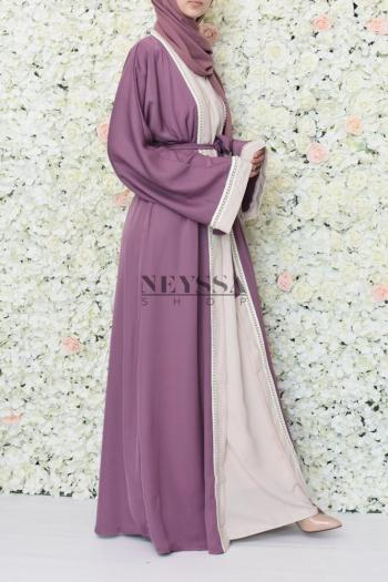 Abaya Dubai Uweidah 2en1 Purple