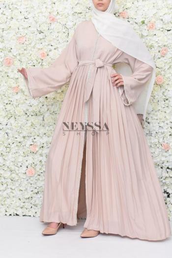 Abaya Dubai Duchesse beige