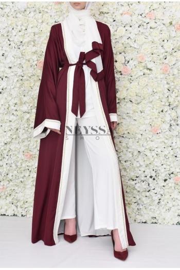 Kimono Abaya Uweidah Burgundy