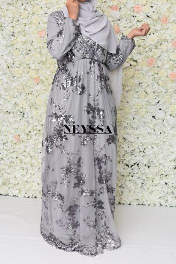Evening dress Nesslima grey