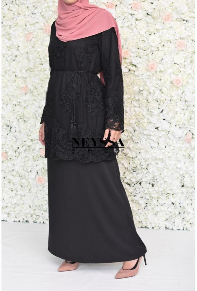 Abaya 2en1 Aliya Elegance noire