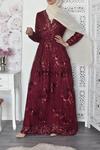 Evening dress Nesslima burgundy