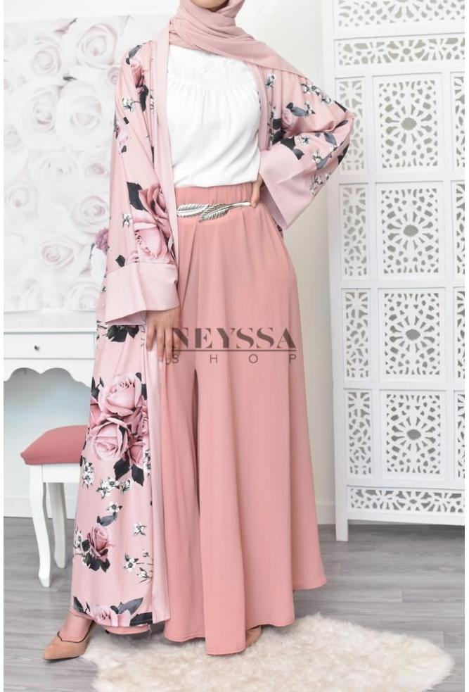 4d1e377f8c0 kimono long fleuri le top niveau mode hijab kimono oriental