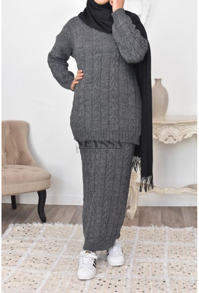 ensemble jupe tricot
