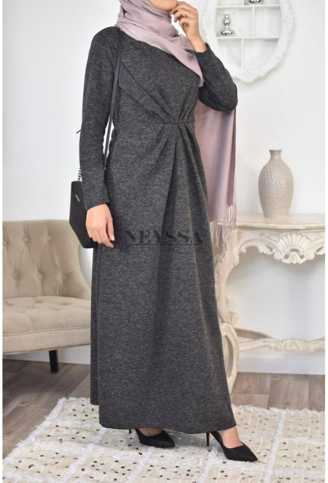 robe longue hiver robe longue automne robe laine hijabi robe laine. Black Bedroom Furniture Sets. Home Design Ideas