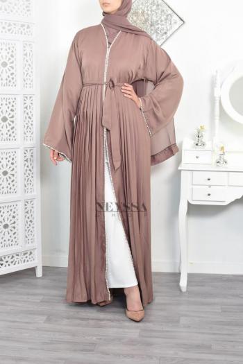 Abaya Dubai Duchesse Dark Nude