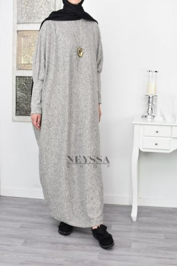 Abaya longue ample Autome Hiver pas cher