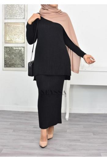Ensemble modest fashion tricot