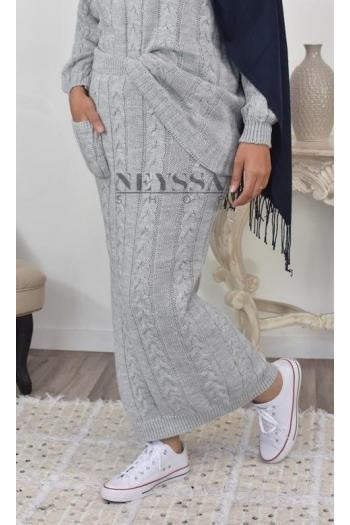 Jupe laine tricot