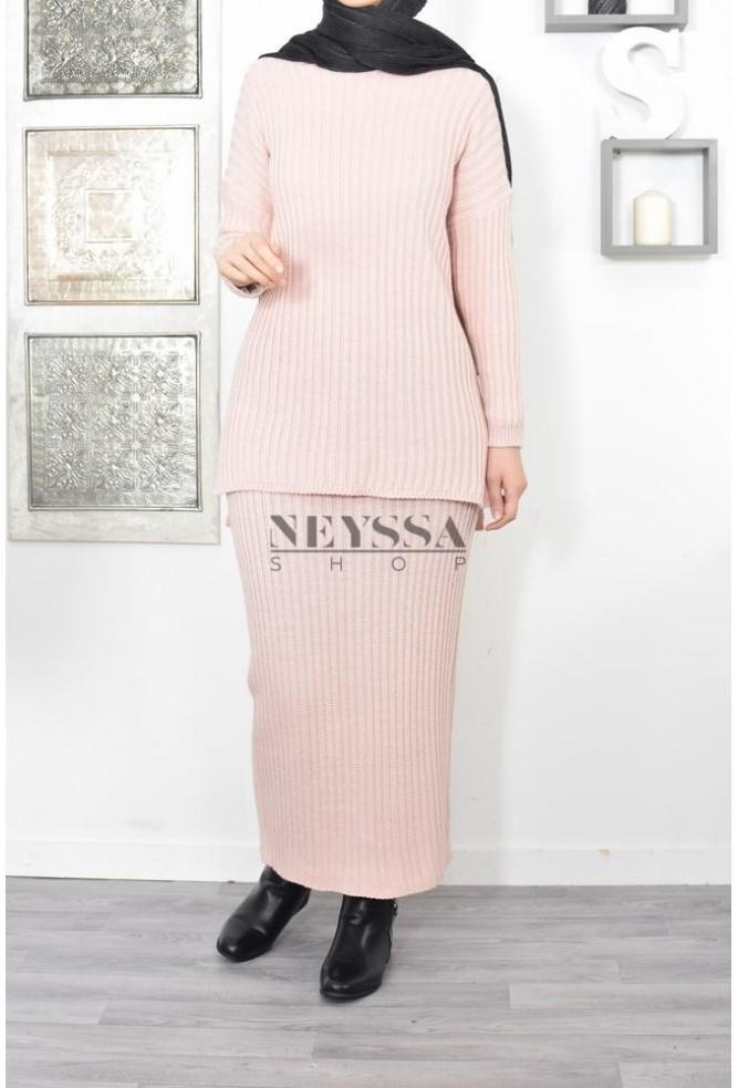 Ensemble modest fashion tricot