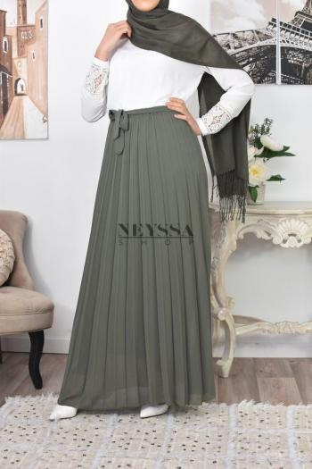 Jupe plissée mousseline Nelya