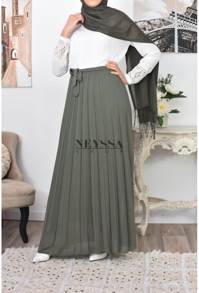 d495b6eac247c1 jupe tendance plissé turque en crêpe épais