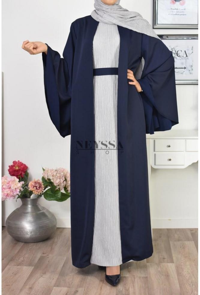 Fond de robe glossy plissé