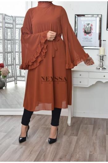 Robe tunique volants Naymah
