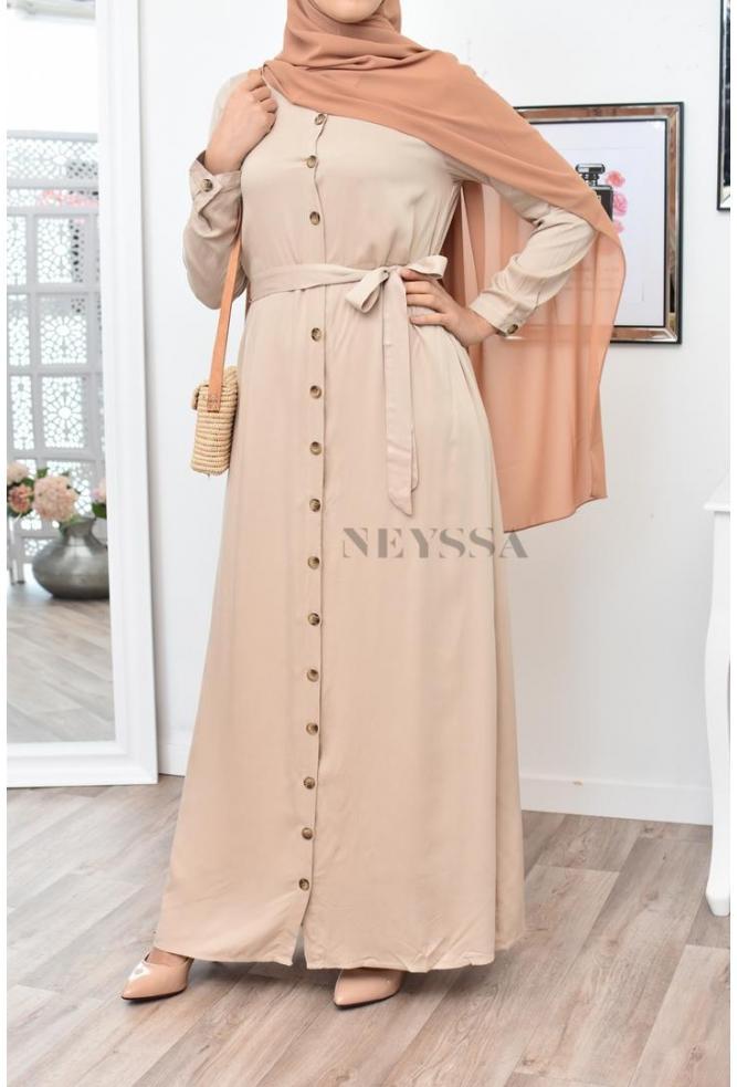 Robe chemise estivale mastoura Robe‑chemise longue, longue