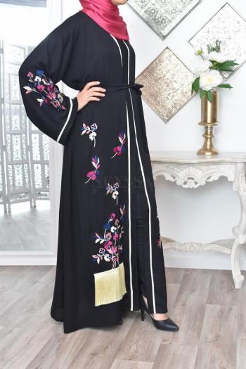 Abaya Dubaï Fleurs de Jasmin