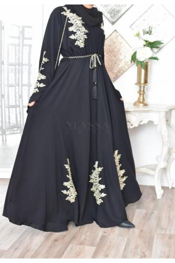 Abaya Dubaï Umbrella Gold